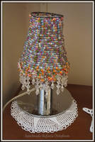 lamps hade with beads by MrsEfi