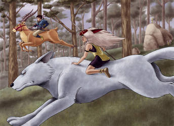 Princess Mononoke by amoros1978