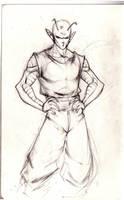 Piccolo Sketch by machinegunkicks