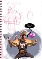 Ares sketchbook by machinegunkicks