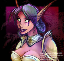 Warcraft - Phyra Sketch by frisket17