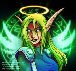 Warcraft - Yseria Sketch by frisket17