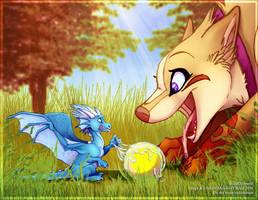 Hida Plays Fetch With Frisket by frisket17