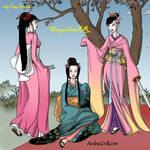 Geisha - Botan,April and Kitty. by UsagichanBR