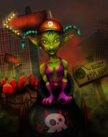 Makka the Goblin Cannonball by Valyssa