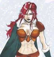 Red Haired warrior... by Valyssa