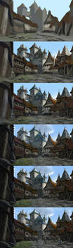 Elven Town step by step by Skaya3000