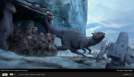 Star Wars The Job ILM Art department Challenge by FlorieInk