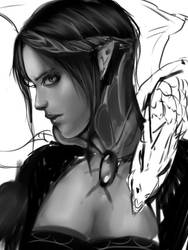 dragon woman by SkyeRei