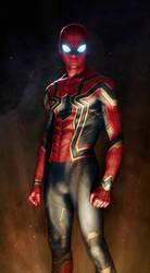 Iron Spider Armor Avengers: Infinity War (fan art) by SanyLebedev
