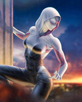Spider-Gwen by SanyLebedev