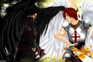 Lucifer and Michael by Ichi1985