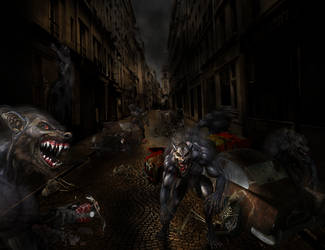 Lycans Rampage in actions by dumharianz