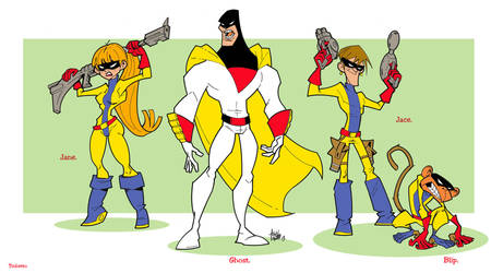 Space Ghost Hanna Barbera, comic, animation. by tinbetto
