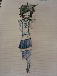 female john egbert by meeperzoid