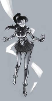 Robot Sailor Jupiter - commission by Psuede