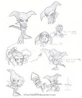Sketch Impmon by idolnya