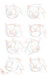 Sonic position head by idolnya