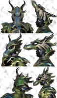 Dragon Armor Helmet by Azmal