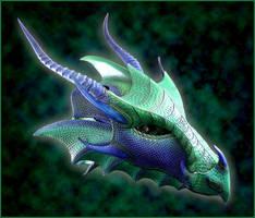 Imperial Sea Dragon Helmet by Azmal