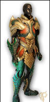 Leather Medieval Aquaman Armor Full View by Azmal