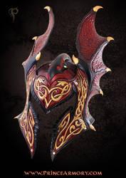 Flame Armor Leather Helmet by Azmal