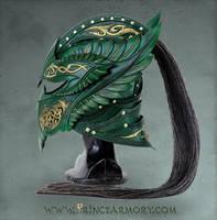 Green Elven Knight Helmet by Azmal