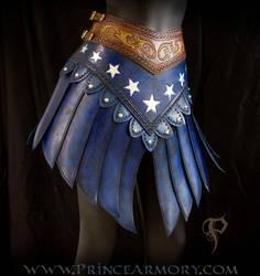 Leather Wonder Woman Skirt by Azmal