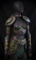 Untitled female armor by Azmal