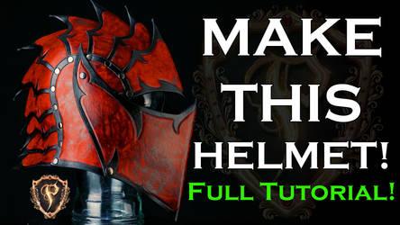 Fantasy Leather Helmet Full Tutorial How To/DIY by Azmal