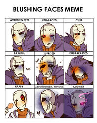 Blushing Faces Meme (SF) by Bunnymuse