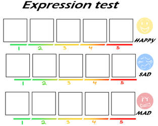 Expressions Test Blank by Bunnymuse