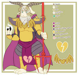 NT!Asgore Refrence sheet by Bunnymuse