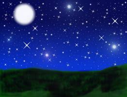 Night Grassy Field - Free BG by StarVampiress13