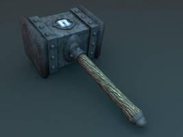 warcraft hammer by Pudig