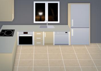 Kitchen Background by ZanaGB