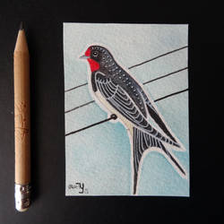 ACEO Barn swallow by yeyra