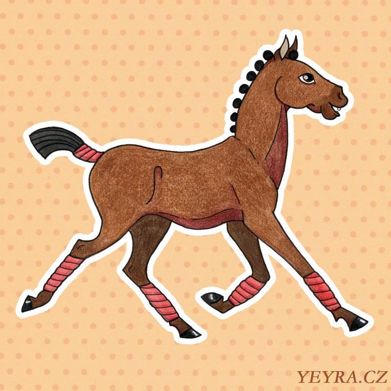 Happy horse by yeyra