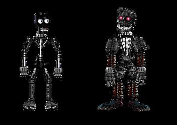 Endoskeleton 01 And Nightmare Endoskeleton by robrichwolf
