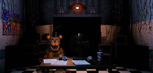Withered Freddy Golden Freddy Hybrid In Fnaf 2 by robrichwolf