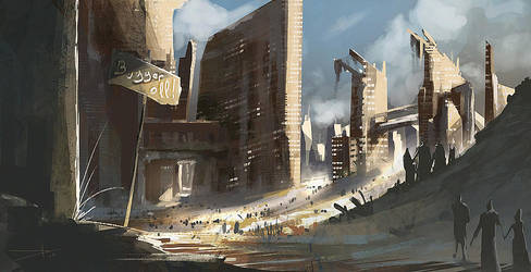 Crowed city. by Oission