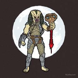E.T. vs. Predator by Randy-Coffey