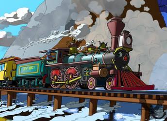 RailWolf loco by JoeltheSwedishDragon