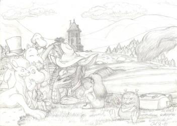 Spring in Moomin Valley by JoeltheSwedishDragon