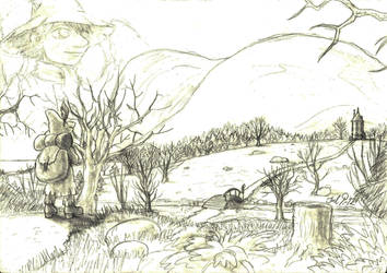 Wandering wanderer back in Moomin Valley by JoeltheSwedishDragon