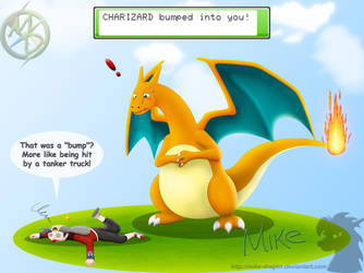 Clumsy 'Zard by Mike-Dragon
