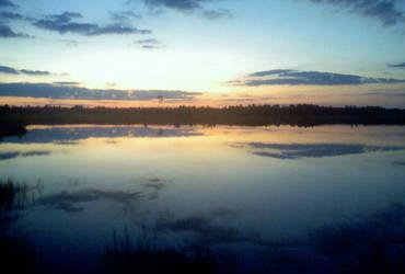 Sunset Lake by Hydromorphic-Twin