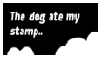 dog ate my stamp by Numbuh-9