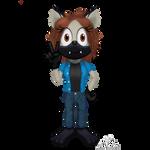 Kira The Hyena[OverdueGiftArt for SonicFazbear15] by CupidTheSparrow