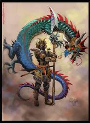 El Samurai Dragon-color by elshazam